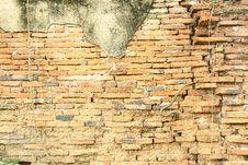 Brick Wall At Ancient City Royalty Free Stock Photo