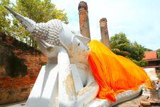 Monuments Of Buddah THAILAND Royalty Free Stock Photo