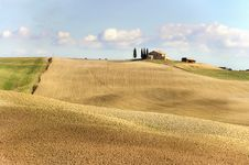 Farm In The Tuscany Royalty Free Stock Photo