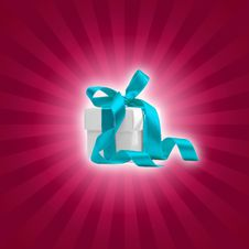 Free Present Box With Magenta Background Stock Photos - 6814123