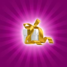 Free Present Box With Purple Background Royalty Free Stock Photos - 6814138