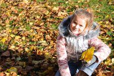 Free Little Girl In Autumn Stock Photo - 6814180
