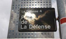 Free Information Table  Place De La Defense Royalty Free Stock Photo - 6814615