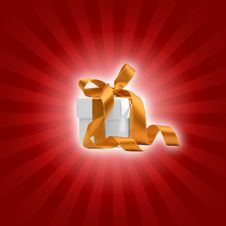 Free Present Box With Red Background Stock Photo - 6814790