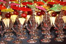Cups Decorated For Cocktail Party Stock Photo