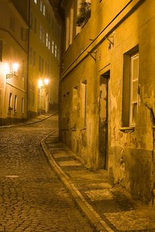 Free Old Lane In Prague Royalty Free Stock Images - 6815279