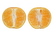 Free Two Halfs Of Tangerine Royalty Free Stock Photos - 6815418