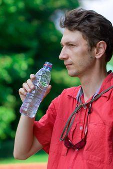 Free Man Drinking Water Royalty Free Stock Photo - 6815615