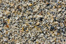Sand With Seashells Background Royalty Free Stock Photos