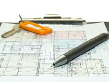 Free Blueprint Of House Plans Stock Photography - 6816022