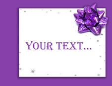Free Gift Letter On Holidays Stock Photo - 6816150