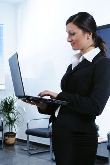 Free Businesswoman And Laptop Stock Image - 6816551