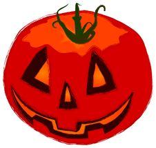 Funny Helloween Pumpkin Stock Photography