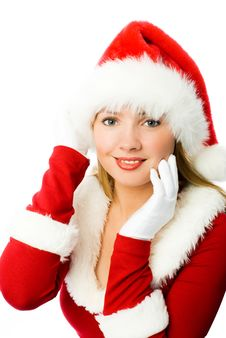 Free Beautiful Girl Dressed As Santa Royalty Free Stock Image - 6817776