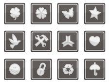 Free Silver Sleek Icons Royalty Free Stock Images - 6817829