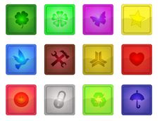 Free Colorful Sleek Icons Stock Images - 6817834