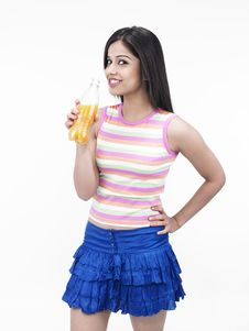Free Asian Girl Drinking Juice Royalty Free Stock Image - 6818486