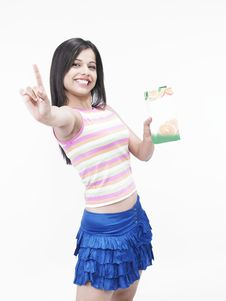 Free Asian Female With Tetra Pack Stock Photography - 6818492