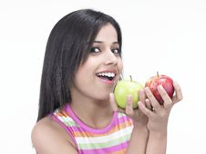 Free Asian Woman With Apples Royalty Free Stock Photo - 6818515