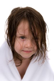 Free Little Girl With Towel Stock Photography - 6818592