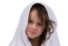 Free Little Girl With Towel Royalty Free Stock Images - 6818669