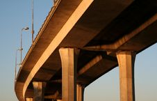 Concrete Bridge Stock Images