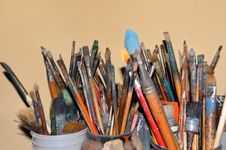Free Artist Paintbrushes Stock Photos - 6819173