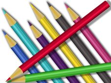 Free Colored Pencils Royalty Free Stock Photography - 6819217
