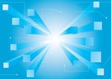 3d Abstract Blue Wallpaper Stock Photos