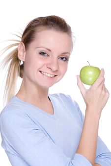 Free Girl With Apple Stock Image - 6819871