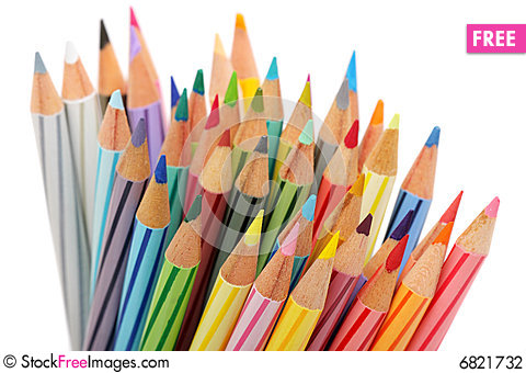 Free Color Pencils Stock Photography - 6821732