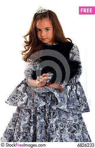 Free Cute Girl In Princess Dress Stock Photos - 6826233