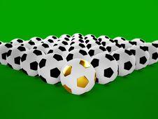 3D Football Balls Stock Image