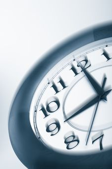 Blue Clock Shaking Royalty Free Stock Images