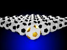 Balls In Row Stock Image