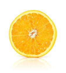 Free Citrus Orange Fruit Isolated On White Royalty Free Stock Photography - 6820607