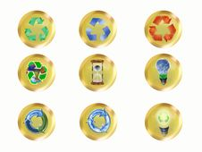 Free Recycle Buttons Royalty Free Stock Photography - 6820837