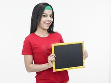 Free Asian Girl With A Slate Stock Image - 6821171
