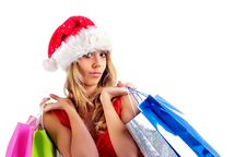 Free Santa Girl Royalty Free Stock Photos - 6821398