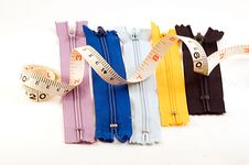 Free Zippers And Measuring Tape Royalty Free Stock Photo - 6821945