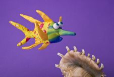 Free Toy Fish And Shell Royalty Free Stock Photography - 6821967