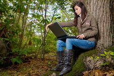 Free Woman On Forest Stock Image - 6822161