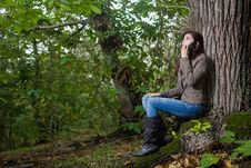 Free Woman On Forest Stock Images - 6822164
