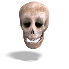 Toon Skull  Is Watching You Royalty Free Stock Photos