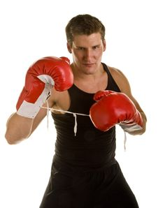 Free Boxer In Fighting Stance Stock Photo - 6822610