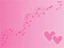 Free Pink Love Wallpaper Royalty Free Stock Photography - 6822647