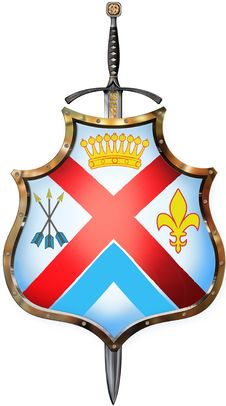 Free Shield With One Swords Stock Image - 6823051