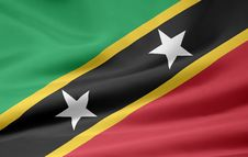 Flag Of The Saint Kitts And Nevis Stock Photos