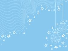 Free Blue Christmas Wallpaper Royalty Free Stock Image - 6823156