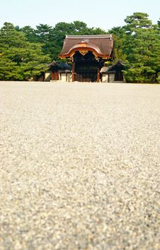 Kyoto Imperial Palace Kenshunmon Gate Royalty Free Stock Images